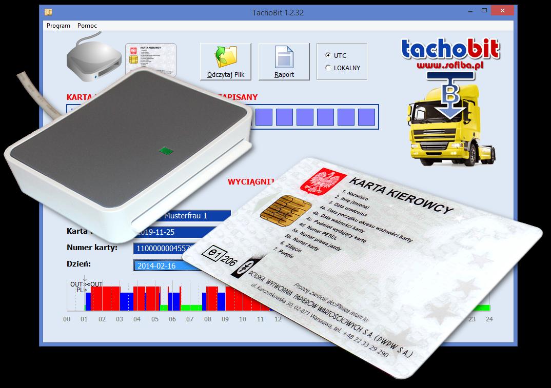 Czytnik kart kierowców TachoBit